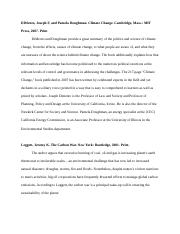 Annotated Bibliography - Climate Change