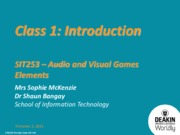 SIT253 Class 1 - Introduction