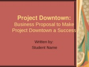 Sample Studnet Business Plan PowerPoint Presentation