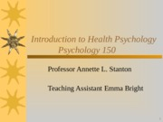 Psych 150 Introduction to Health Psychology (2)
