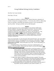 Group Problem-Solving Guidelines - fall.docx