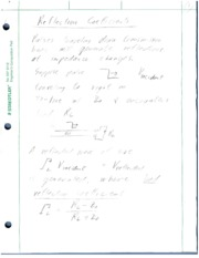 9 - Reflection Coefficient Notes