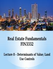 FIN3332-Lecture 8-Value; Land Use-F16