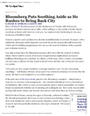 11-15-12 NYT Bloomberg Puts Soothing Aside as he rushes to bring back city Sandy