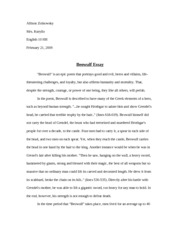 significant memory essay allison zolnowsky mrs kuryllo english 3 pages beowulf essay ~final draft~