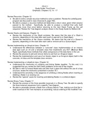 StudyGuide-CS211-Exam1 - CS-211 Study Guide Midterm Exam#1 Chapters