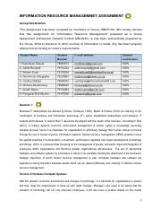 INFORMATION RESOURCE MANAGEMENT_ ASSIGNMENT 1_MARKED.pdf
