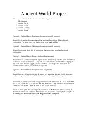 Ancient World Project.doc