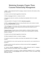 Chapter Three - Customer Relationship Management