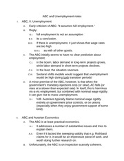 ABC and Unemployment notes