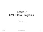Lecture 7 Class Diagrams