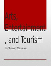 (Week 10) Arts, Entertainment, and Tourism