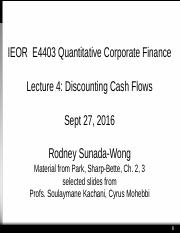 4403 '16 #4 Discounting Cash Flows (1)