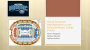 Using Revenue Management to set Orlando Magic Ticket