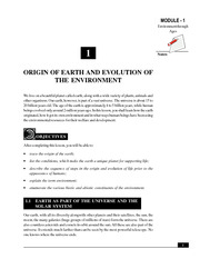 1_Origin of Earth and Evolution of the Environment