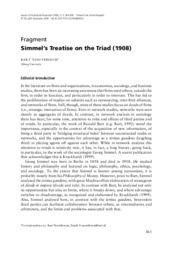 Simmel_Treatise on the Triad_selections