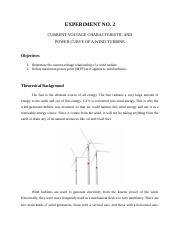 EXP-02 Current-Voltage Charcteristic, Power Curve & Efficiency of a Wind Turbine.docx
