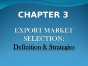 CHAPTER3_Export_Market_Selection