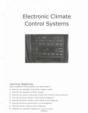 Ch 6 - Electronic Climate Control Systems