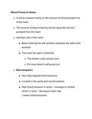 Blood Pressure Notes