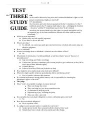 Test Three Study Guide