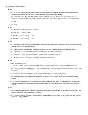 Lecture 09 - Quiz Questions pdf - Q1 During maturation of