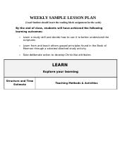 WEEKLY SAMPLE LESSON PLAN_FDREL 121-2-2-2-2