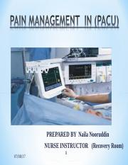 pain management in PACU final