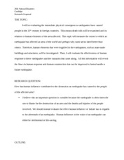 sample rough draft for analytical paper natural disasters  3 pages sample rough draft of research proposal