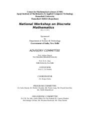 Reportof national workshop in Discrete Mathematics.doc