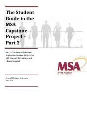 Guide Part 2 PROCESS THE STUDENT GUIDE TO THE MSA CAPSTONE PROJECT July 2016 (2)_d4917c5ada33c9b