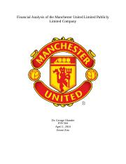 Financial Analysis of the Manchester United Limited Publicly Limited Company.docx