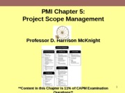 PMI Chapter5 Project Scope Management