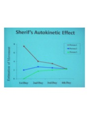 PSYCH 360 Social Psychology - Sherif's Autokinetic Effect Line Graph