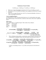 Stoichiometry Practice Problem Solution