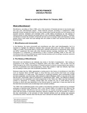 MicroFinance_literature_review