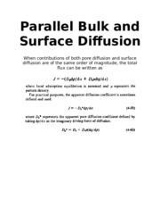 Parallel Bulk and Surface Diffusion