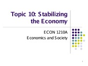 Topic 10. Stabilizing the Economy_S