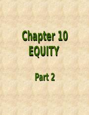 Chapter 10 Equity Part 2.ppt