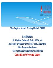 Elgilani_The Capital  Asset Pricing Model