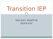 Transition IEP