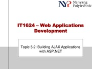 Topic 5.2 - Building AJAX And SilverLight Applications with ASP.NET
