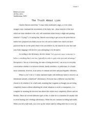 The Truth About Lies (FINAL COPY)