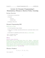 Memoization Notes