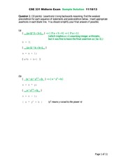 Midterm b solutions