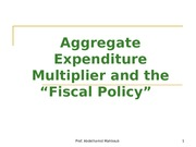 Ch 11 - The Fiscal policy