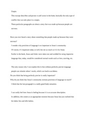 the giver chapter 24 essay
