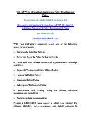 CJA 464 Week 5 Individual Assignment Policy Development Paper.doc