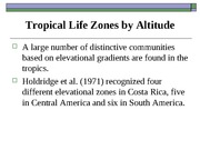Ecology Tropical Elevation