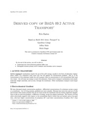 BIS 2A, Textbook 9.2 Active Transport